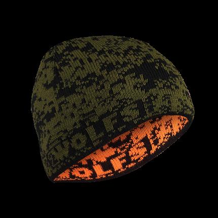 Obrazek Czapka DEER zielona/pomarańczowa
