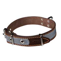Picture of Reflective Dog Collar NATURE with a swivel